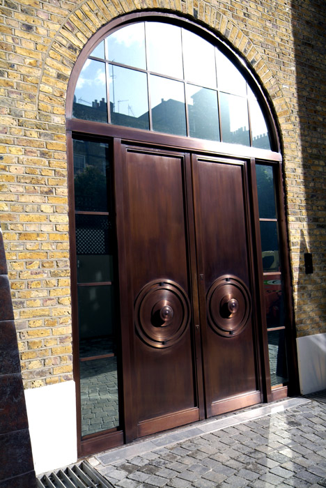 ... Private Residential - Curved Head Bronze Door Frame ... : bronze doors - pezcame.com