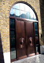 Private Residential - Curved Head Bronze Door Frame
