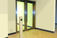Bassett & Findley - Blenhein FD60 satin stainless steel fire door
